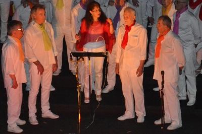 Marie Christine et son quatuor d'hommes