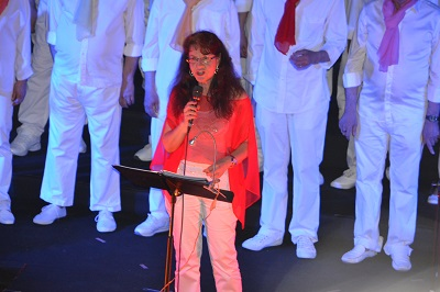 Marie-Christine, notre chef et quelle soprane !